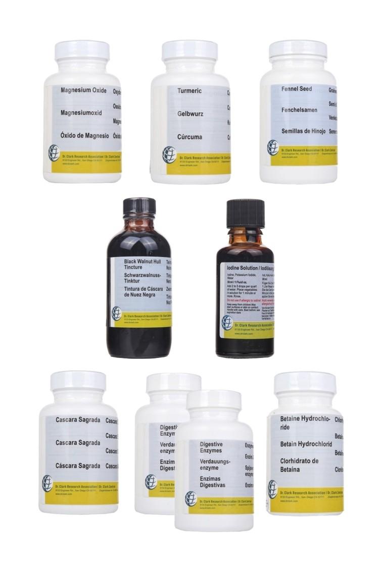 1. Dr Clark Complete Bowel Program (8 items)