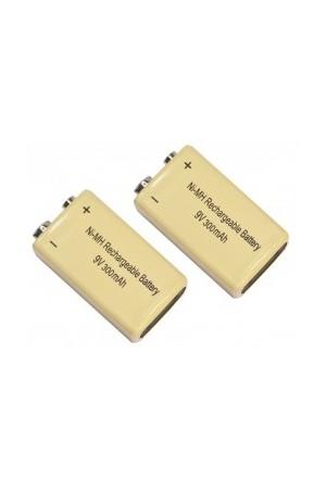 2 x Rechargeable 9V Batteries 300mAh