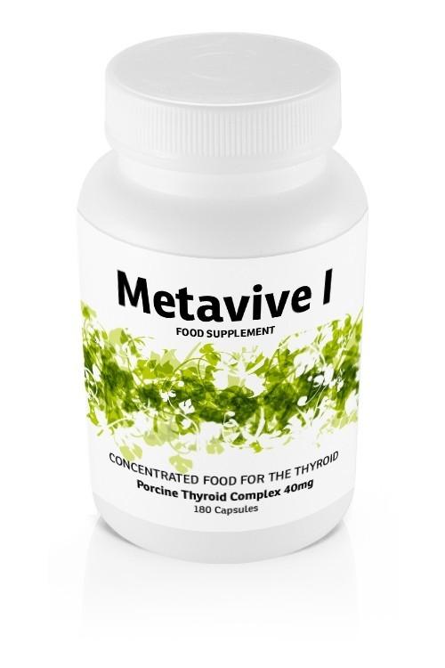 Metavive I Porcine Thyroid Complex 40mg (180 caps)