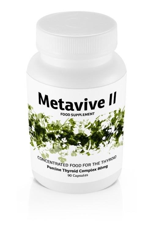 Metavive II Porcine Thyroid Complex 80mg (90 caps)