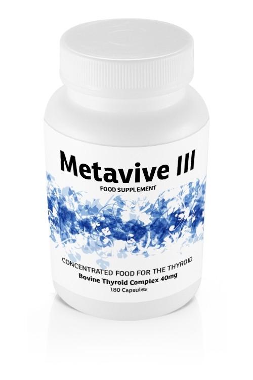 Metavive III Bovine Thyroid Complex 40mg (180 caps)