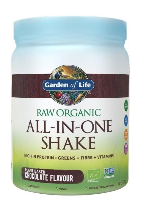 RAW Organic All in One Shake Chocolate (509g) (NL-BIO-01)