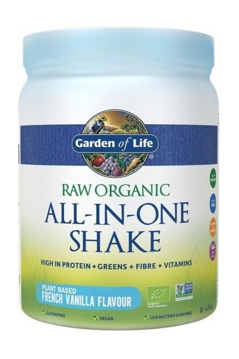 RAW Organic All in One Shake Vanilla (484g) (NL-BIO-01)