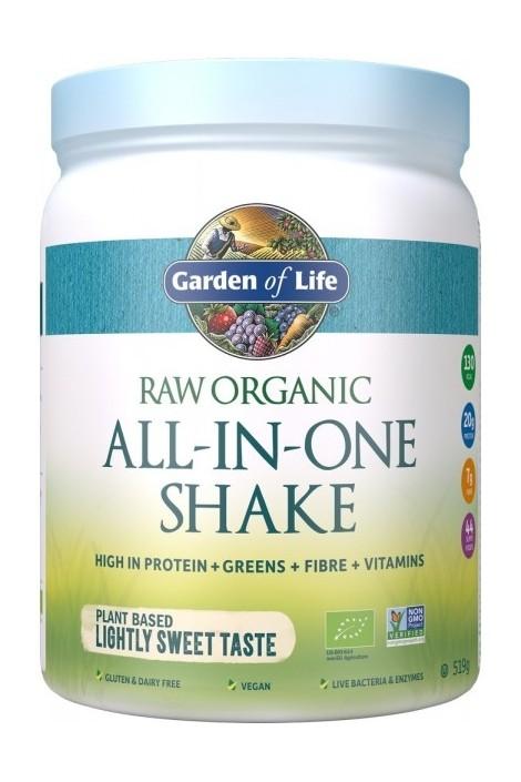 RAW Organic All in One Shake Lightly Sweet (519g) (NL-BIO-01)