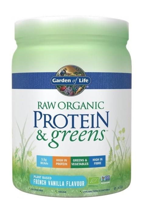 RAW Organic Protein & Greens Vanilla (411g) (NL-BIO-01)