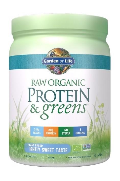 RAW Organic Protein & Greens Lightly Sweet (488g) (NL-BIO-01)