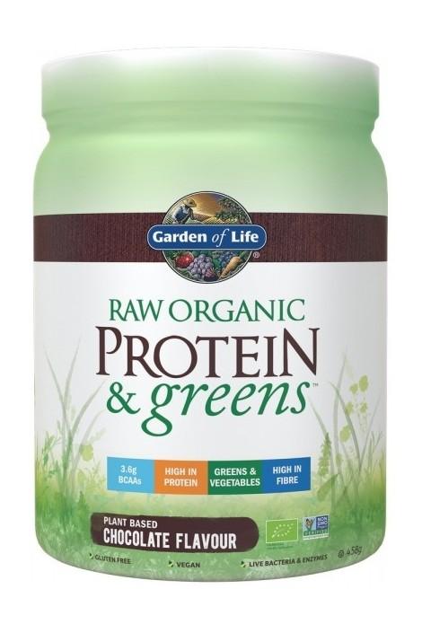 RAW Organic Protein & Greens Chocolate (458g) (NL-BIO-01)