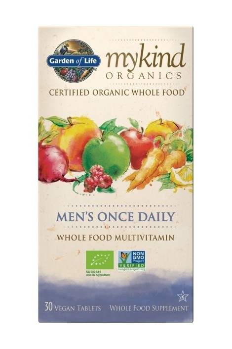 mykind Organics Mens Once Daily (30 Tabs) (NL-BIO-01)