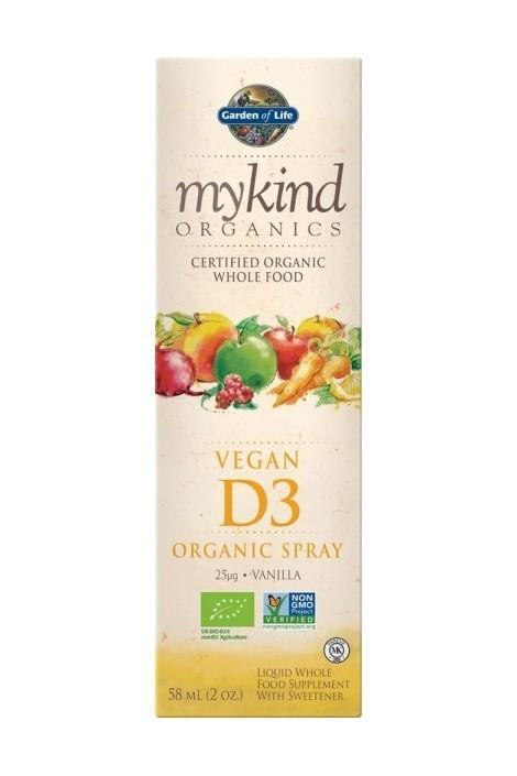 mykind Organics Vegan D3 1000 IU Spray (60ml) (NL-BIO-01)